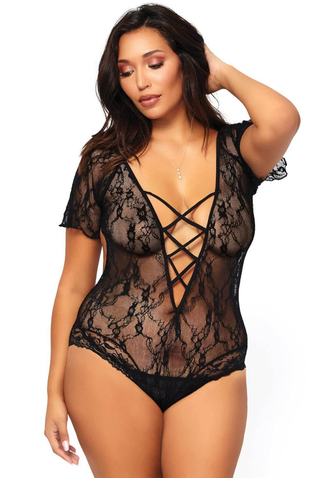 Strappy Back Teddy, XL Koot-Leg Avenue-LouLou