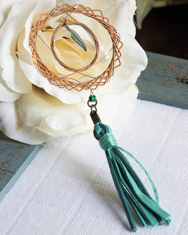 Dreamcatcher Necklace w/ Feather