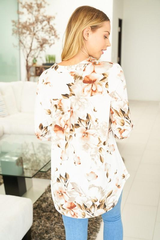 Natural Beauty 3/4 Sleeve Top