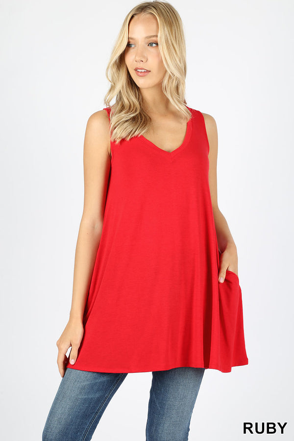 RUBY V-Neck Pocket Tank