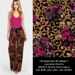 Cheetah Floral Lounge Pants - Buttery soft