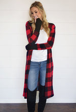 Buffalo Plaid Knee Patch Leggings