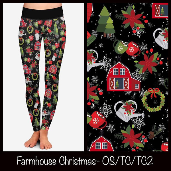 Farmhouse Christmas Leggings