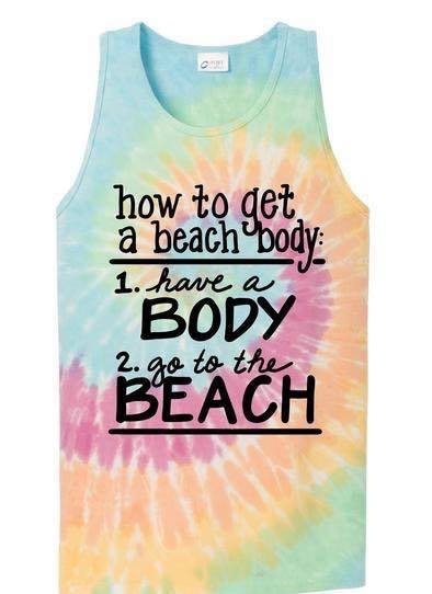 Beach Body Graphic Tank Top