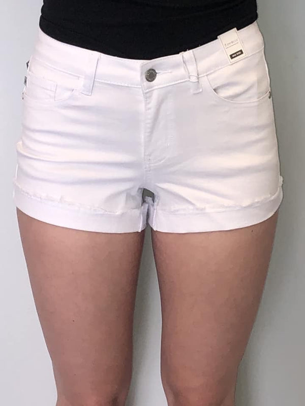 Judy Blue Shorts White Cuffed