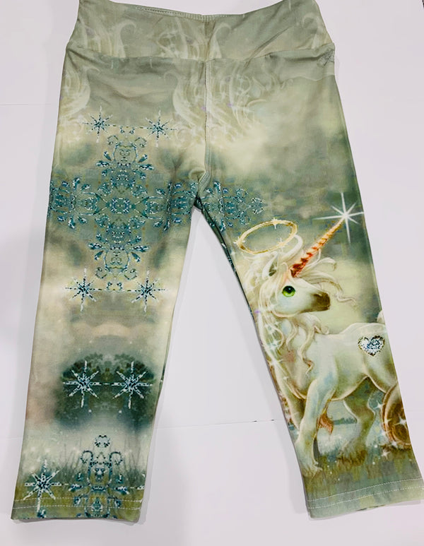 Believe in the Magic of Unicorns - Kids Capri Leggings