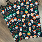 SANTA SACK - Fun Canvas Drawstring Gift Bags