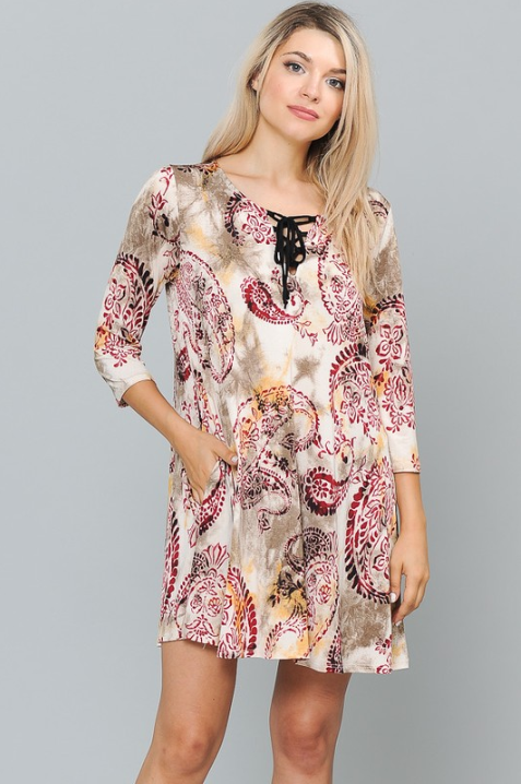 Boho Beauty Paisley Dress