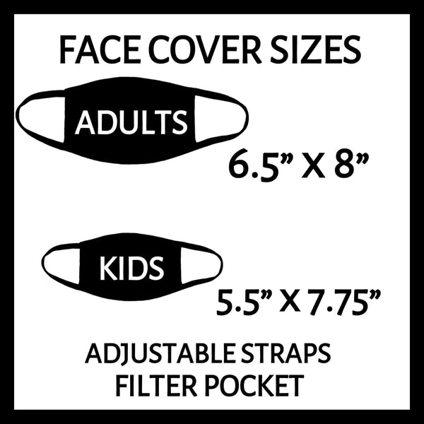 Child Size Custom Face Covers - Cloth Reusable with filter pocket