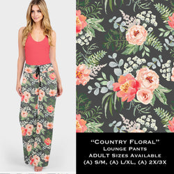 Country Floral Lounge Pants - Buttery soft
