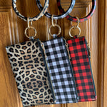 Bangle Keyring Wristlet - Detachable Leopard