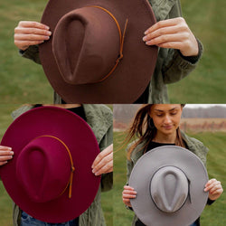 Wide Brim Hat with Two Belts