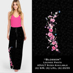 Blossom Black Lounge Pants - Buttery soft