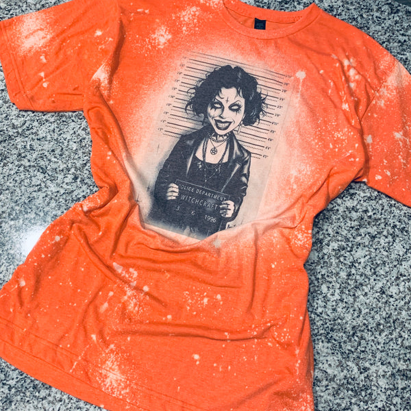 Police Lineup - Witch Craft Crazy - orange distressed Graphic Tee