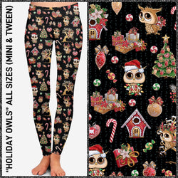 Holiday Owls Buttery Leggings & Joggers