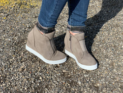 Taupe Wedge Shoe