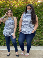 Essential Tank in Grey Camo