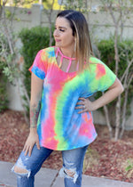 Raise The Bar Tie Dye Top