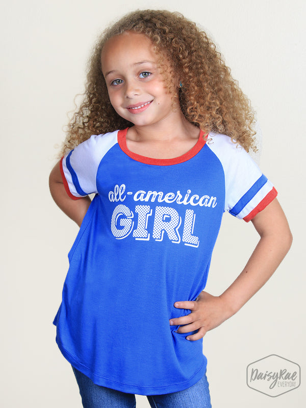 All American Girl Double Ringer Tee