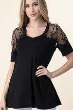 Elegance and Lace Short Sleeve Top