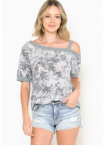 Travel Dreams Off Shoulder Tunic