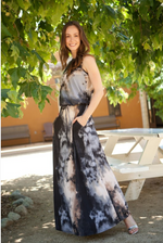 Statuesque Drawstring Maxi Dress