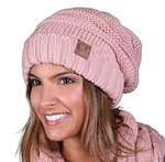 CC Cable Knit Slouchy Beanie