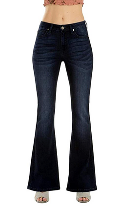 KC Mid Rise Flare Jeans DK