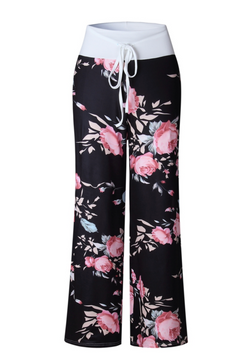 PINK FLOWER LOUNGE PANTS