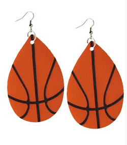 Basketball Teardrop EarRings