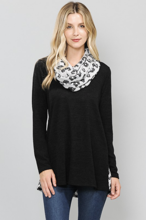 It's all in the Detail Top & Scarf Combo