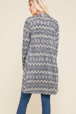 Long Sleeve Knit Open Cardigan with Pockets