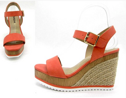 Soda Coral Wedge Sandal Comfort Insole