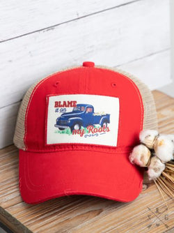 Blame it On My Roots Patch Ponytail Hat