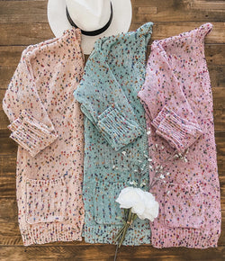 Spring Collection Plush Confetti Cardigan