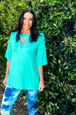 ARB Laser Cut Tunic in Mint