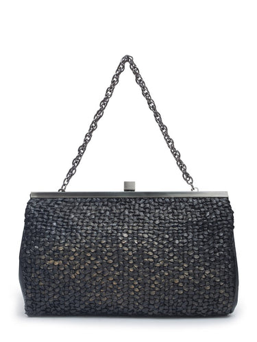 Bolso Mano Gris Bronce