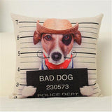 Funny Bad Dog Pillow Cover