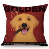 Vintage Dog Poster Pillow Case