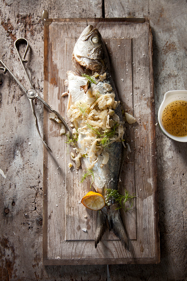 GRILLED FISH WITH WARM FENNEL SLAW