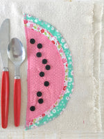 DIY WATERMELON NAPKINS