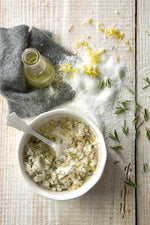 Lemon and Rosemary Salt Scrub