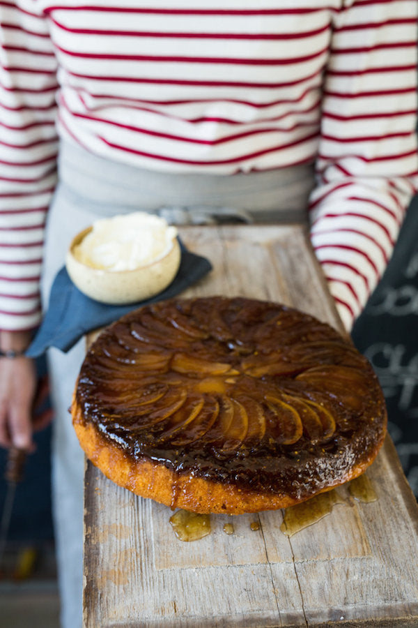 Apple Upside-Down Skillet Corn Cake