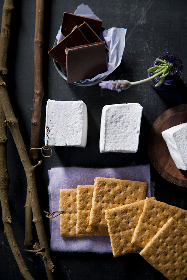 Libbie Summers Recipes, Lavender Marshmallows, Adult S'mores