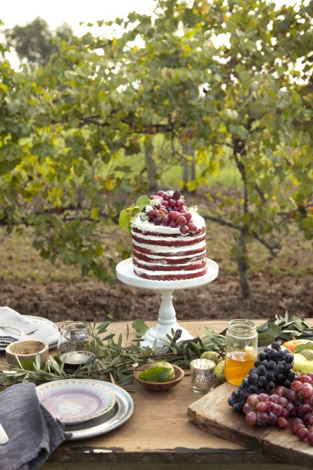 Chocolate Cabernet Naked Cake by Libbie Summers (Photography Chia Chong)
