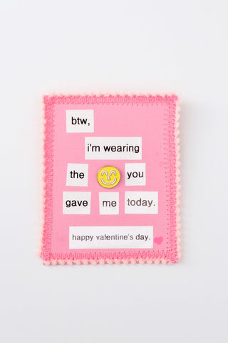 Enamel Pin Valentine's Day Cards from Yum Yum Smile Shop