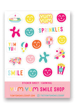 Yum Yum Smile Shop Sticker Sheets