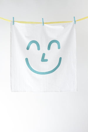BLUE SMILEY KITCHEN TOWEL