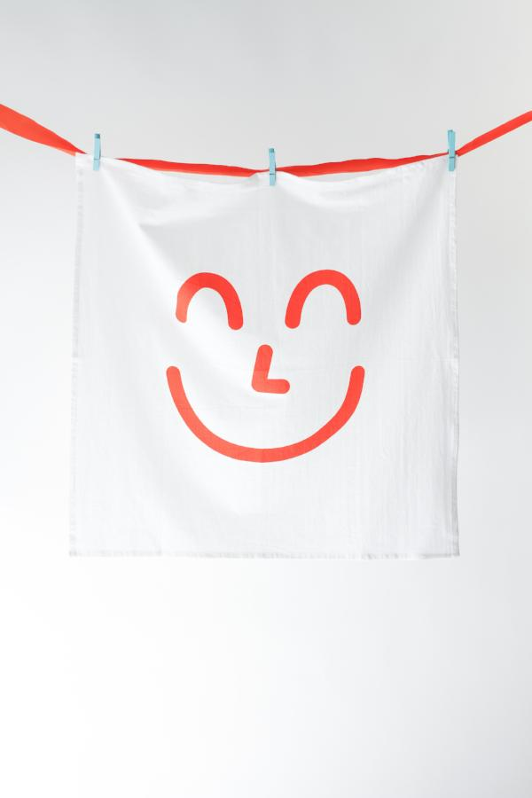 Blood Orange Smiley Kitchen Towel