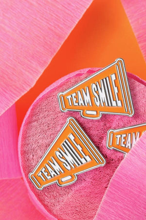 TEAM SMILE ENAMEL PIN